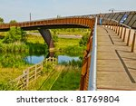 foot bridge   cycle way over... | Shutterstock . vector #81769804