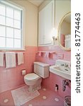 dated bathroom with pink tile... | Shutterstock . vector #81774463