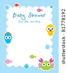 ocean animal baby shower... | Shutterstock .eps vector #81778192
