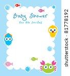 ocean animal baby shower... | Shutterstock .eps vector #81778192
