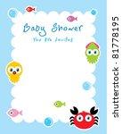 ocean animal baby shower... | Shutterstock .eps vector #81778195
