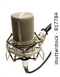 studio microphone  side view  | Shutterstock . vector #817784