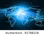 best internet concept of global ... | Shutterstock . vector #81788218