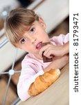 girl eating chocolate | Shutterstock . vector #81793471