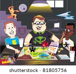 inner sanctum of geekdom   Shutterstock .eps vector #81805756