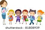 illustration of students from... | Shutterstock .eps vector #81808939