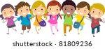 Illustration Of Kids Walking...