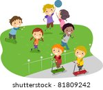 illustration of kids playing in ... | Shutterstock .eps vector #81809242