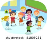 illustration of kids playing in ... | Shutterstock .eps vector #81809251