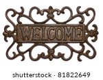 Welcome Sign Isolated On White