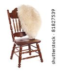 carved wooden chair with a fur... | Shutterstock . vector #81827539