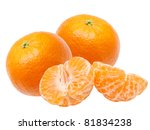 Mandarin Isolated On White...