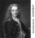 Small photo of Voltaire (1694-1778). Engraved by J. Mollison and published in The Gallery Of Portraits With Memoirs encyclopedia, United Kingdom, 1833.