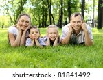 family of mother  father and...   Shutterstock . vector #81841492
