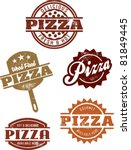 Gourmet Pizza Stamps