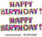happy birthday hand drawn... | Shutterstock . vector #81850585