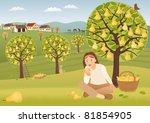 pear harvest raster image. | Shutterstock . vector #81854905
