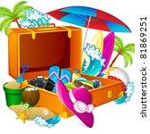 illustration of sea beach thing ... | Shutterstock .eps vector #81869251