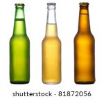 Different Bottles Of Beer On A...