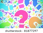 question marks of different... | Shutterstock . vector #81877297