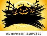 grungy halloween background... | Shutterstock .eps vector #81891532