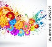 floral design background. | Shutterstock . vector #81902509