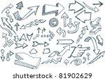 hand doodled arrow assortment | Shutterstock .eps vector #81902629