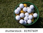 Golf Balls In A Basket Is On...