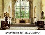 Church Altar In A Historic...