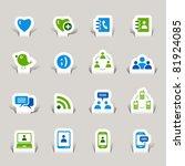 paper cut   social media icons | Shutterstock .eps vector #81924085