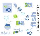 summer graphic elements | Shutterstock .eps vector #81926569