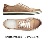 male shoes over white  with... | Shutterstock . vector #81928375