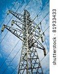 power transmission tower...   Shutterstock . vector #81933433