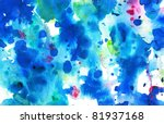 artistic blue watercolor... | Shutterstock . vector #81937168