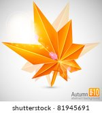 autumn abstract background with ... | Shutterstock .eps vector #81945691