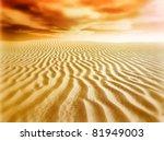 Sand Desert Sunset