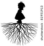 The Silhouette Of A Girl With...