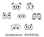 set of cartoon funny eyes for...   Shutterstock .eps vector #81955426