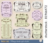 vintage style labels on... | Shutterstock .eps vector #81966472