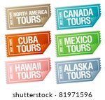 best tours stickers in form of  ... | Shutterstock .eps vector #81971596