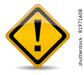 vector warning sign with... | Shutterstock .eps vector #81971608