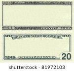 clear 20 dollar banknote... | Shutterstock . vector #81972103