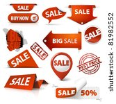 collection of red sale tickets  ... | Shutterstock .eps vector #81982552
