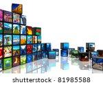 media technologies concept ... | Shutterstock . vector #81985588
