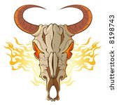 skull of the cow | Shutterstock .eps vector #8198743