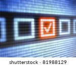 check box    full collection of ... | Shutterstock . vector #81988129