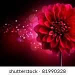 Dahlia Autumn Flower Design...