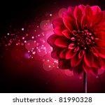 Dahlia Autumn Flower Design...