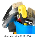 set of tools in toolbox... | Shutterstock . vector #81991054