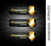 vector golden set of web buttons | Shutterstock .eps vector #81996655